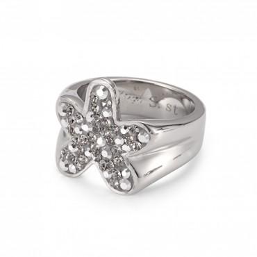 "Crystal Ring ""Blume"""