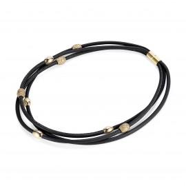 Glamour Leder Halskette