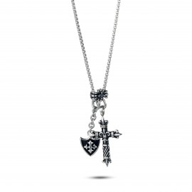"Kette ""Cross & Shield"""
